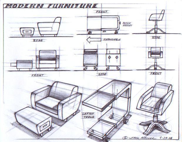 Furniture modern furniture sofa and chair sketch design for Sofa design sketch