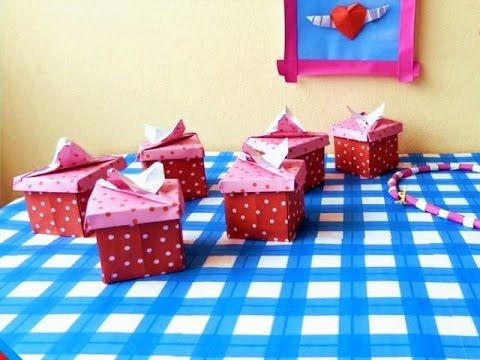 Cute Origami Gift Box Make A Kawaii Paper