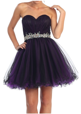 Dark Purple Short Dress
