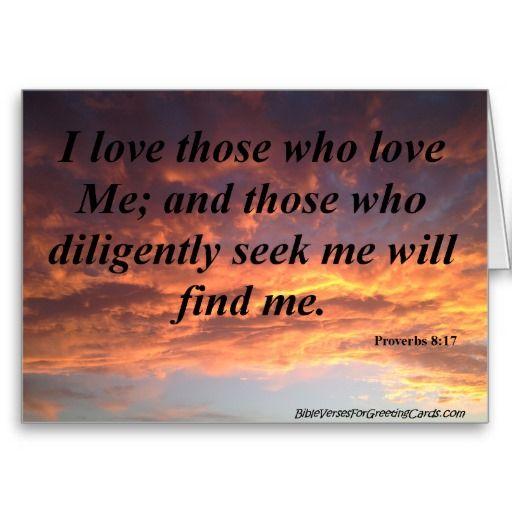 Scripture Birthday Card - Proverbs 8:17