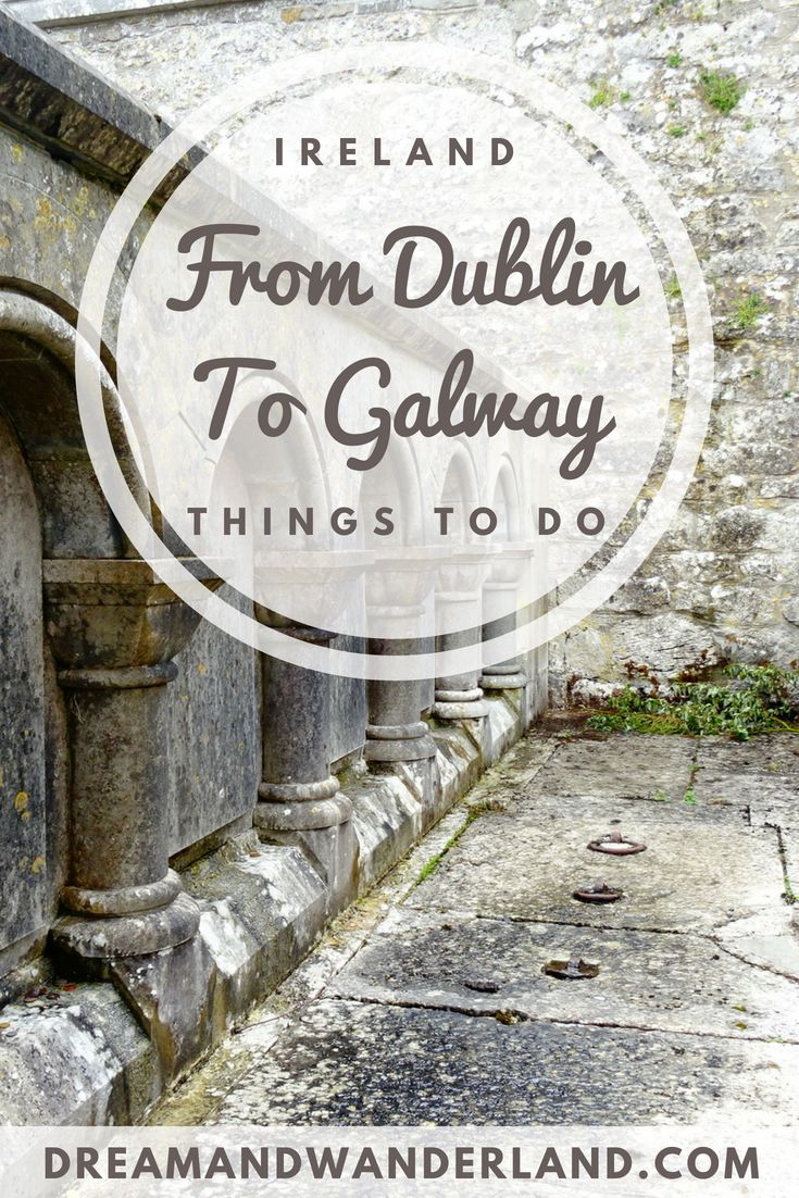 Ireland - From Dublin to Galway #ireland #dublin #galway #clonmacnoise #travel #solo #roadtrip #thingstodo #greenthings