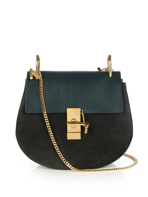 aff6d930cf4 CHLOÉ Drew small leather shoulder bag.  chloé  bags  shoulder bags  lining   knit  suede  metallic