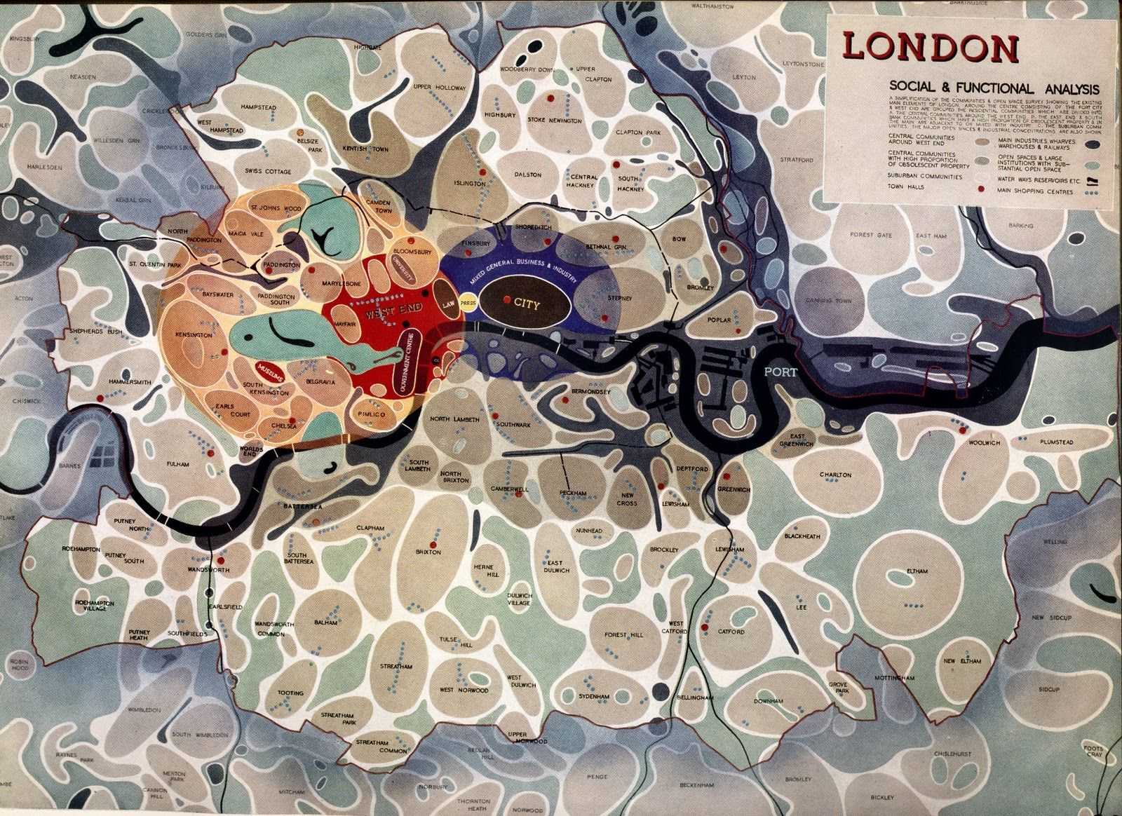 Map Of London 1600.Social And Functional Map Of London From The 40s 1600 1164