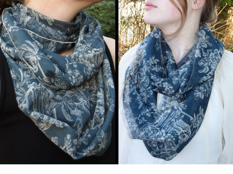 Directions for making an infinity scarf with a serger. | Sewing ...