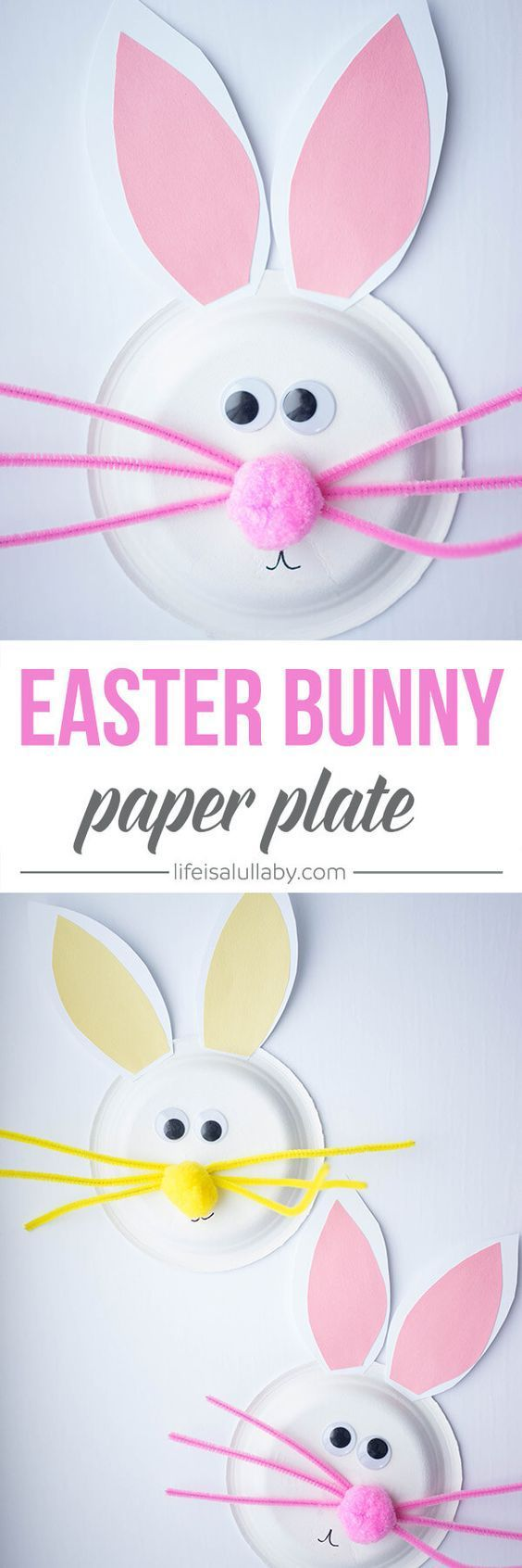 This paper plate Easter Bunny is so cute! I love how easy this is to make and a really fun kids craft to do with the kids!  sc 1 st  Pinterest : paper plate easter bunny - Pezcame.Com