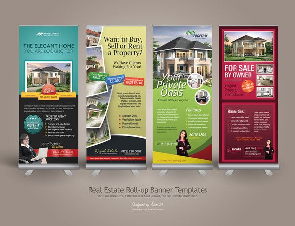 Premium Real Estate Roll Up Banners By Kinzi Deviantart Com On Deviantart Real Estate Roll Up Real Estate Marketing