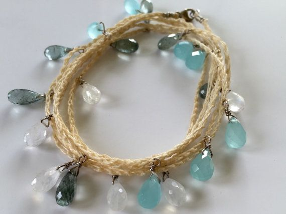 Seaswell Long Necklace/Bracelet by fleurdelunejewelry on Etsy