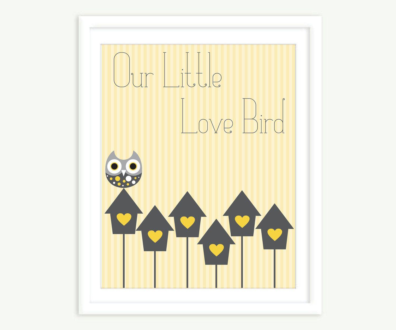 Our Little Love Bird Wall Print. $15.00, via Etsy.   Design   Pinterest