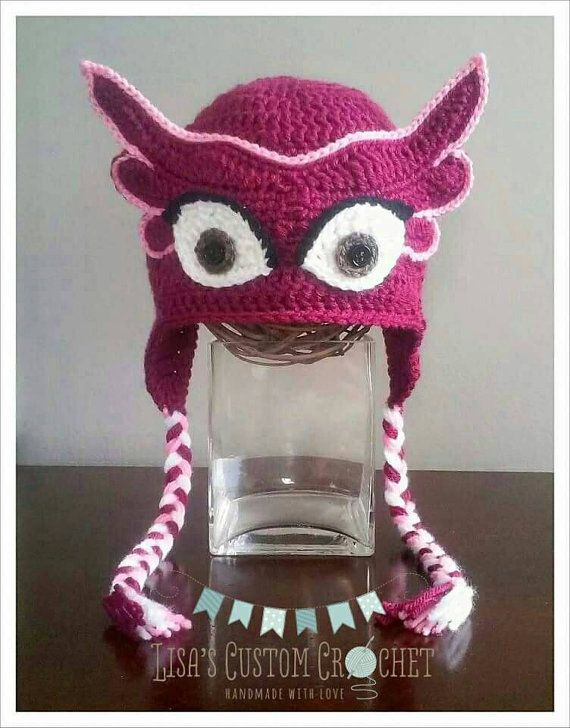 PJ Masks Inspired Owlette Crochet Hat Pattern | gorros | Pinterest ...