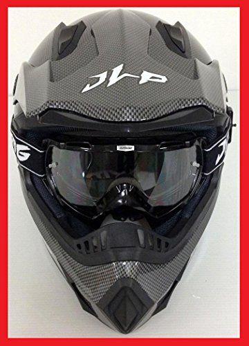CASQUE + LUNETTES MASQUE MOTO CROSS QUAD VTT BMX MTB JLP RACING TAILLE XL