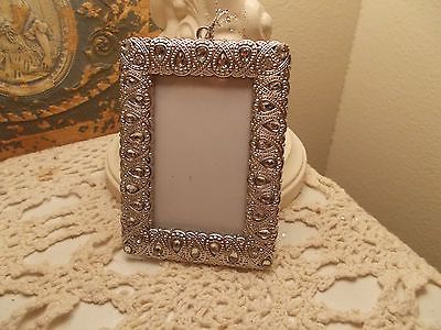 Victorian silver square rhinestone christmas tree metal picture