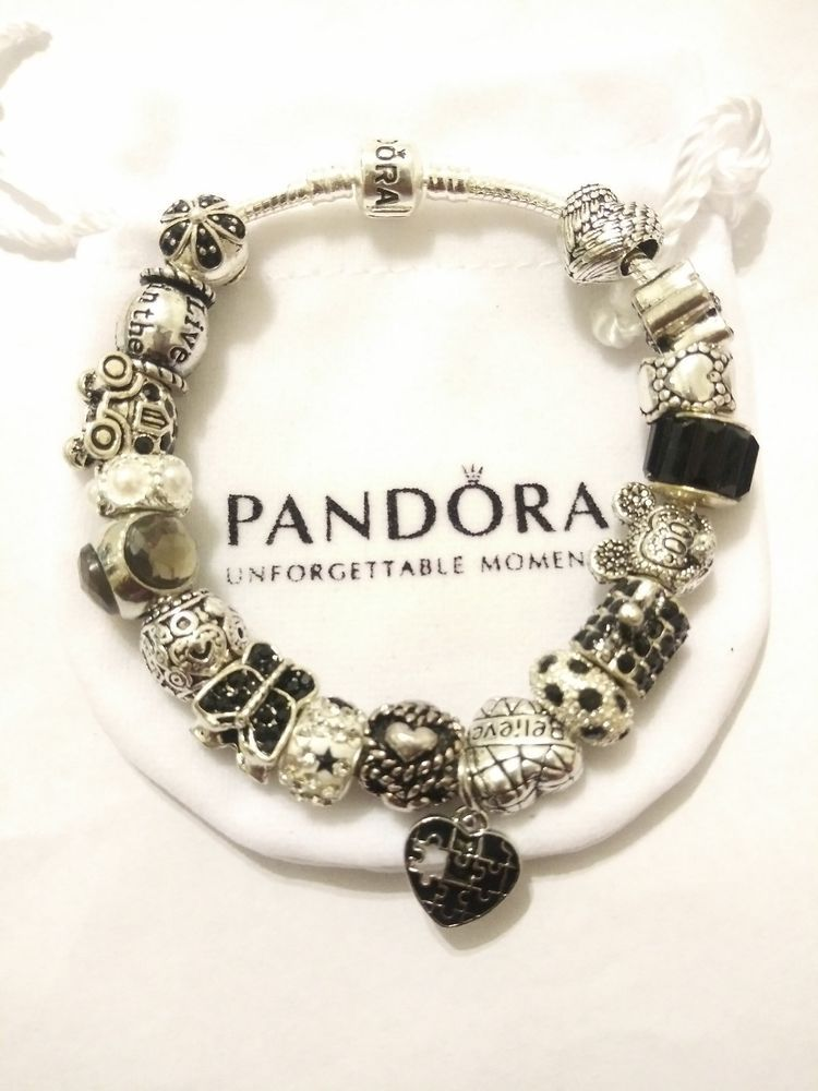 Details About Authentic Pandora Bracelet With Charms Winter Love And
