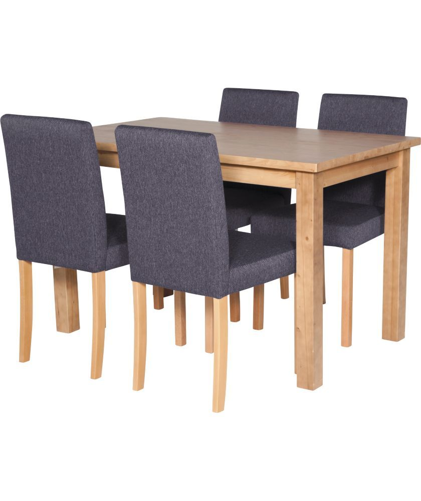Argos Kitchen Furniture Buy Elliot Oak Effect Dining Table And 4 Charcoal Chairs At Argos