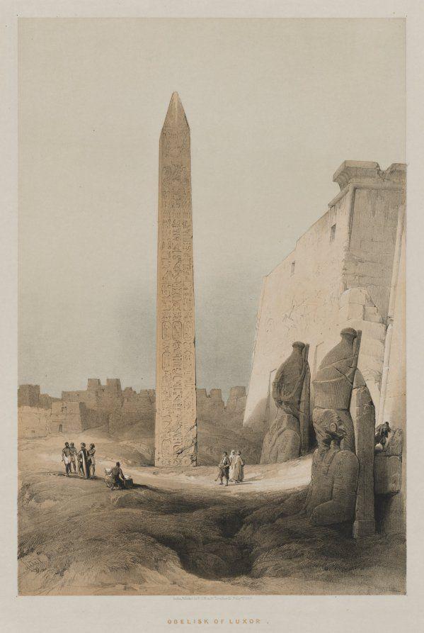 Louis Haghe (British, 1806-1885). Luxor. 1846. After David Roberts.