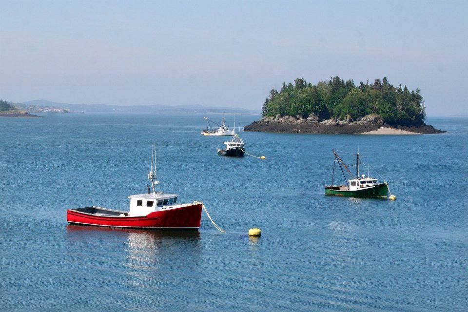 """""""Lubec Harbor"""" by Charlie Bookout 2013 / digital"""