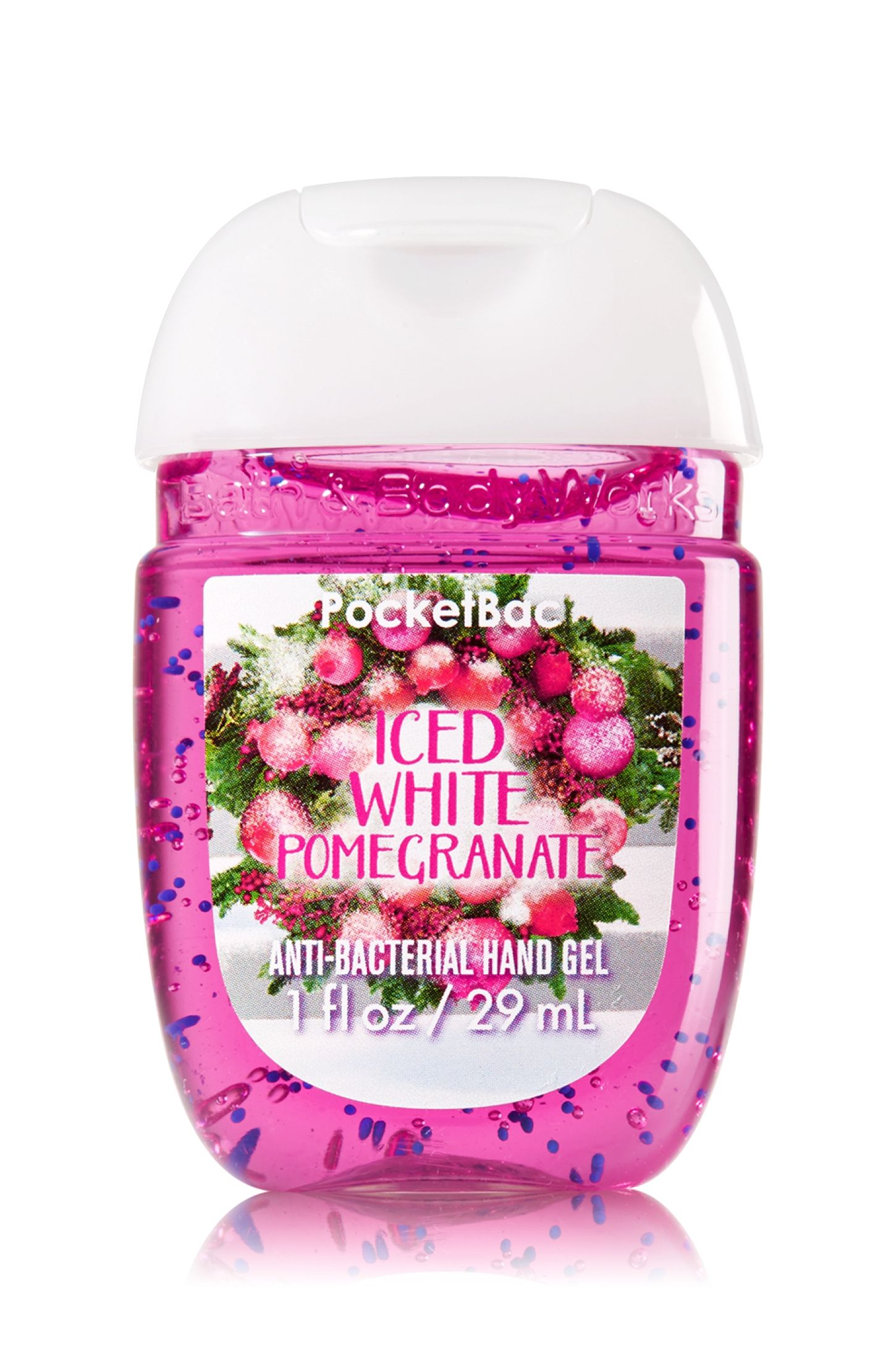 Bath Body Works Iced White Pomegranate Pocketbac Sanitizing Hand