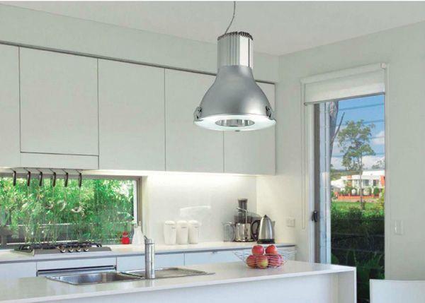 Lámpara de estilo industrial para la cocina ilumina lineal mesada