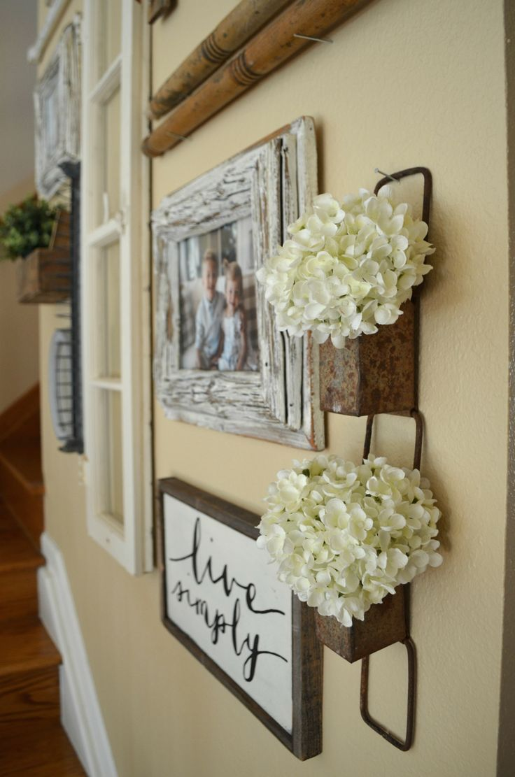 Staircase Gallery Wall A Collection Of Vintage Treasures Farmhouse Wall Decor Hallway Wall Decor Wall Decor Living Room