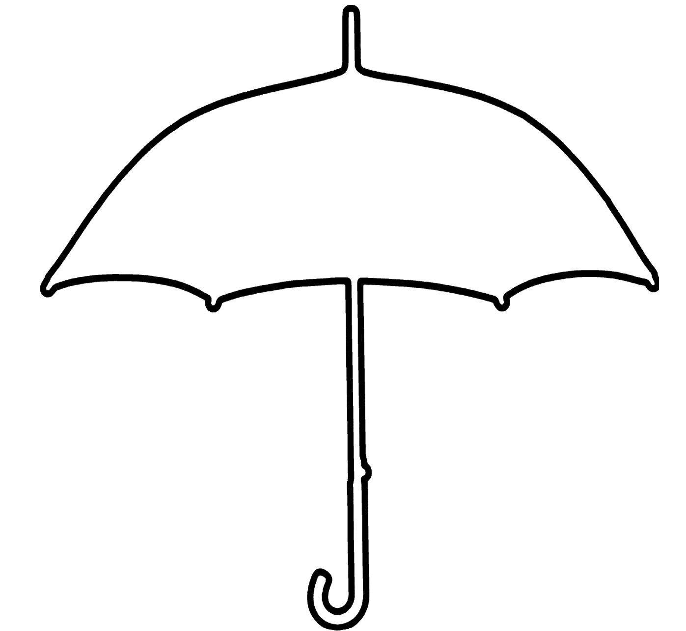 Big Umbrella Coloring Page