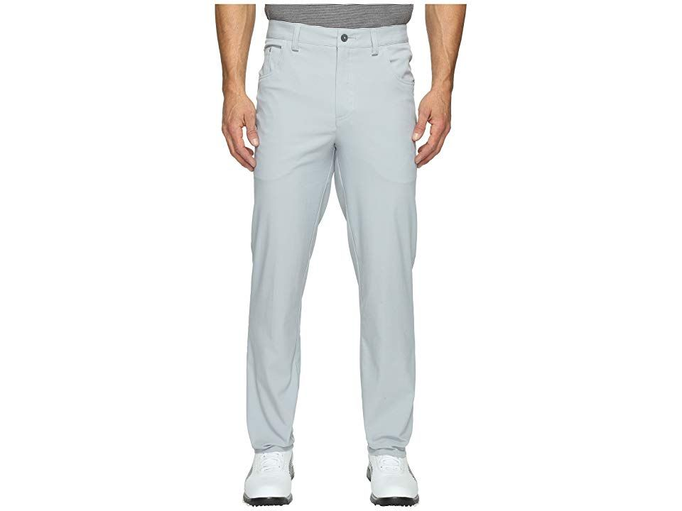PUMA Golf SixPocket Pants Quarry Mens Casual Pants Never hit the links without the essentials Performance fit provides ultimate freedom of movement dryCELL performance fa...