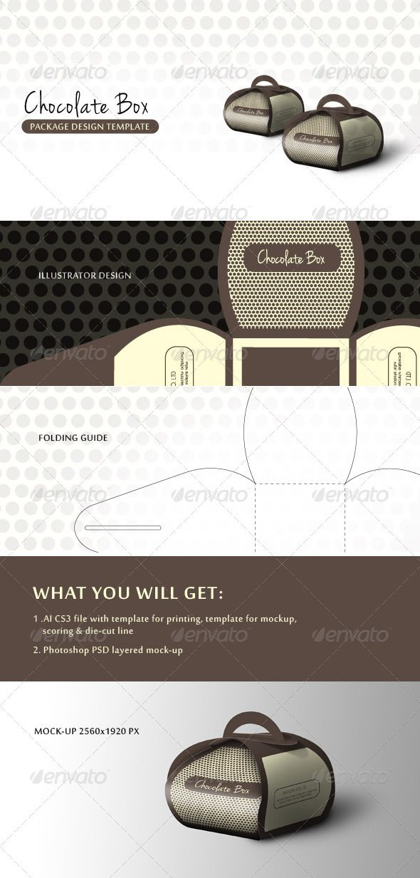 Chocolate Gift Box - GraphicRiver Item for Sale Design Pinterest