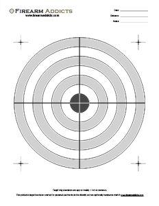 Free Printable Shooting Targets Firearm Addicts Forum For Gun