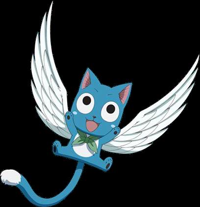 Happy Anime Gallery Fairy Tail Wiki Fandom In 2020 Fairy Tail Cat Fairy Tail Anime Fairy Tail Pictures