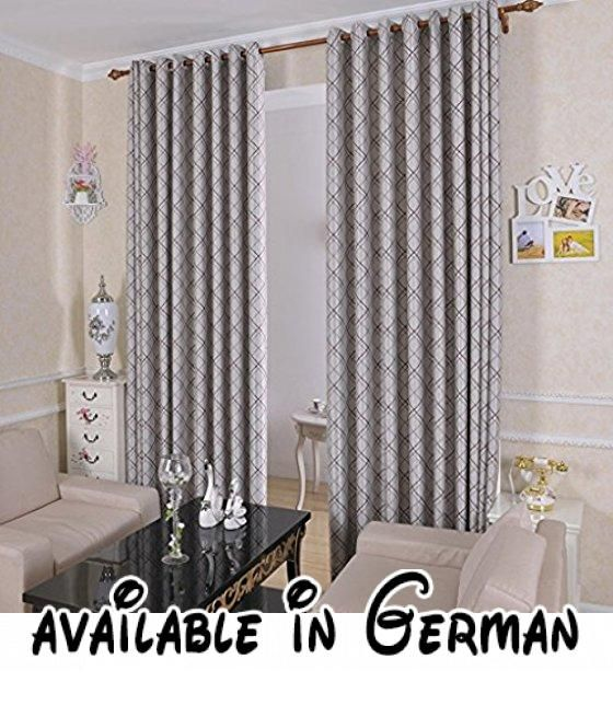 Met Love Klassische gestreifte schräge Gitter-Boden-Vorhänge