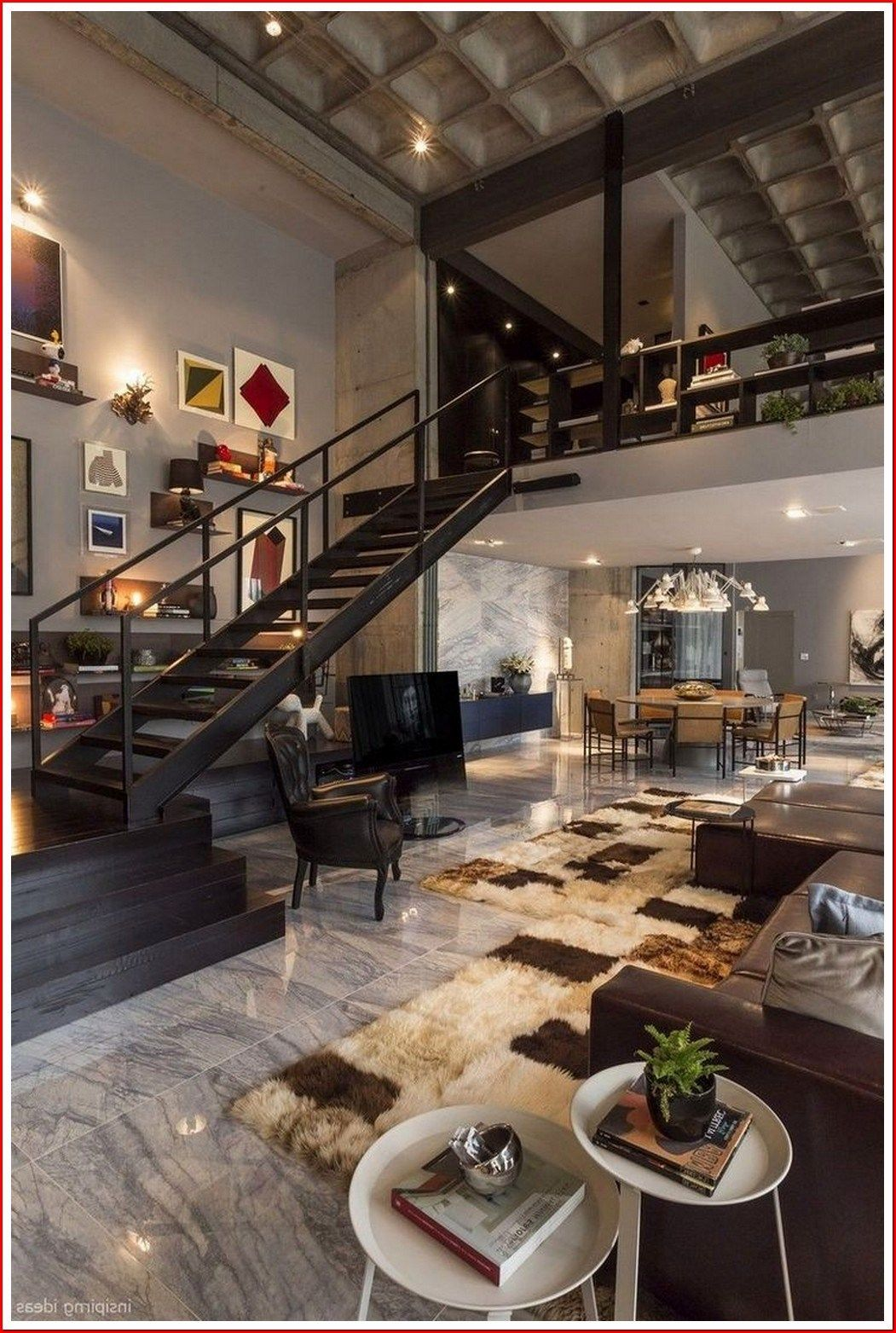 22 Amazing Interior Design Ideas For Modern Loft 00002 In 2020 Industrial Style Living Room Home Interior Design Decor Interior Design