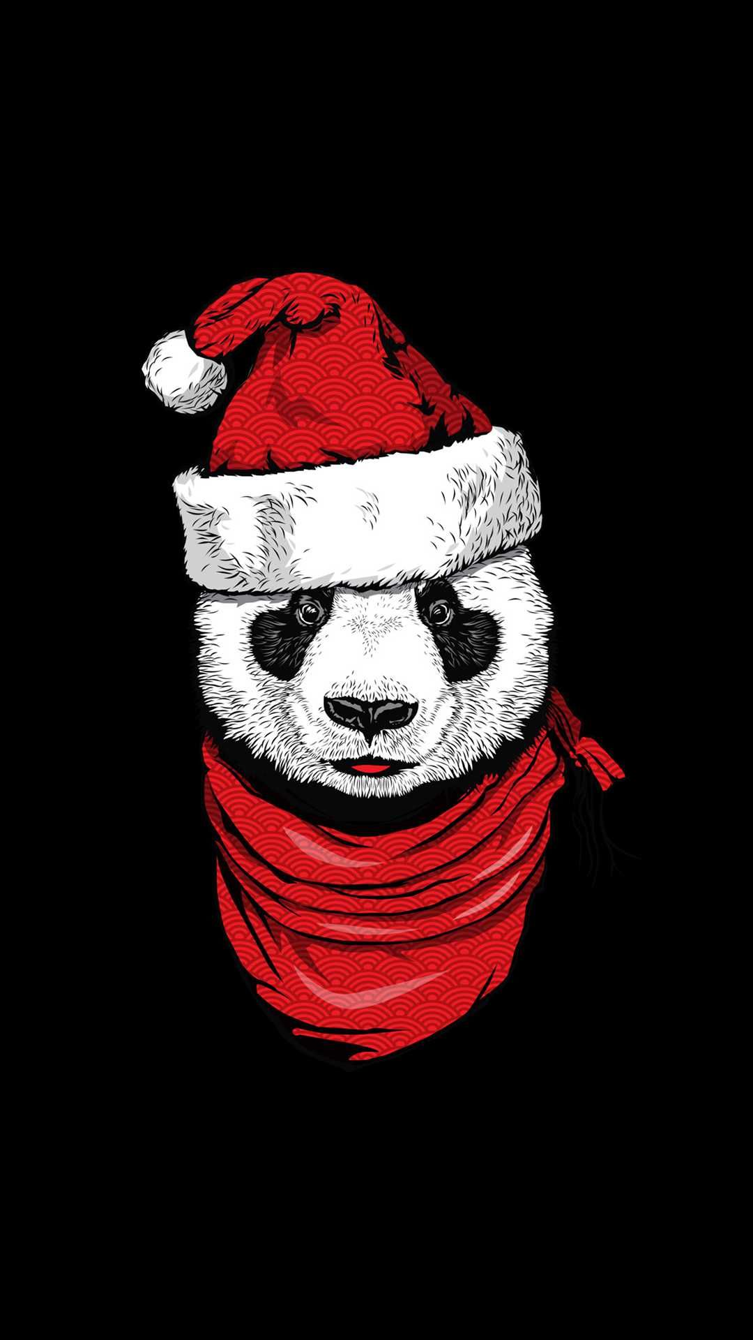 Christmas Panda iPhone Wallpaper Panda wallpaper iphone