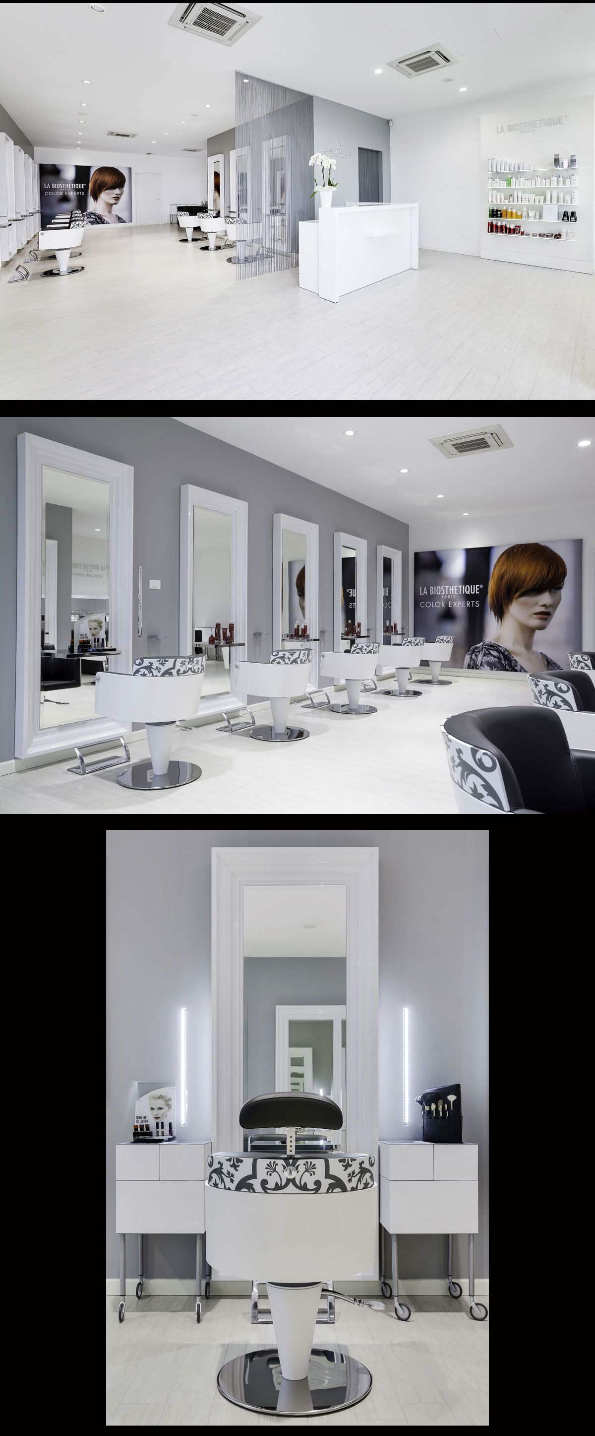 White hair salon chairs - Find This Pin And More On Beauty Salon Gallery White Gray And Black Hair