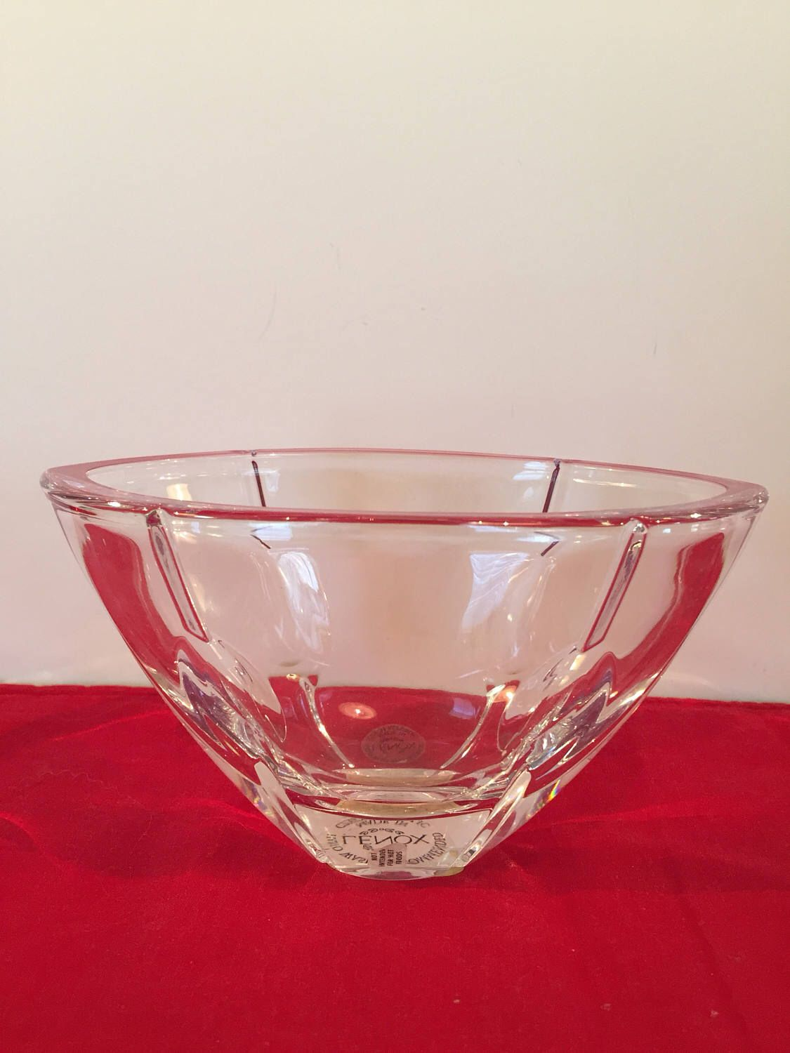 Lenox full lead crystal pink candy bowl. \