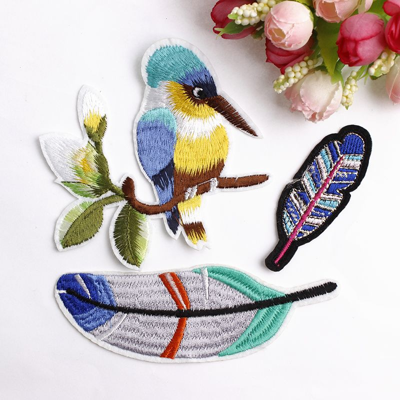 f0f7255f5a Boho Style Bird Themed Embroidered Patch   Badges & Patches ...