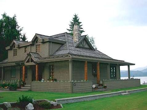exterior house paint with stained trim Painted Wood Siding