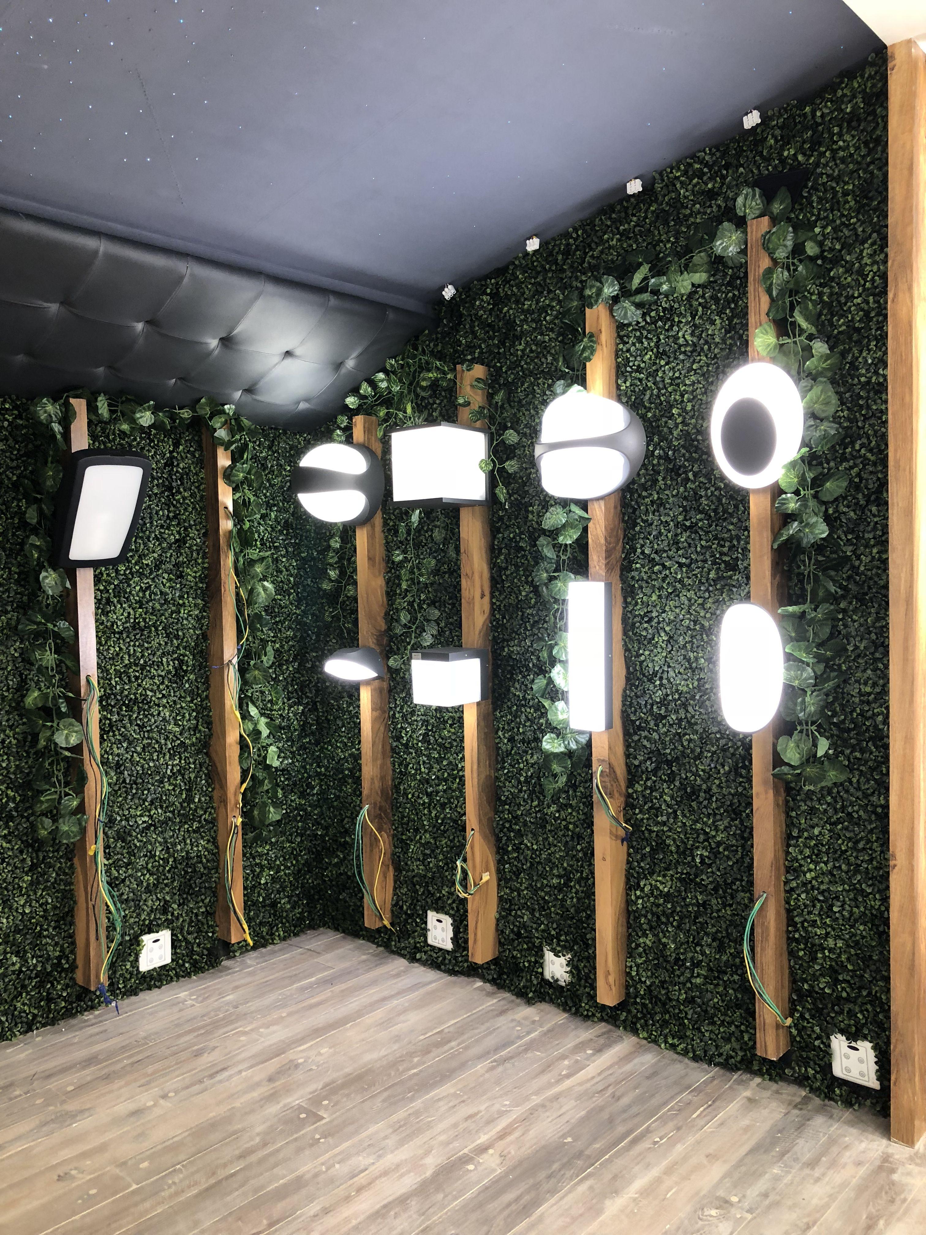 Outdoorlights Greenwall Light Display Showroom Light