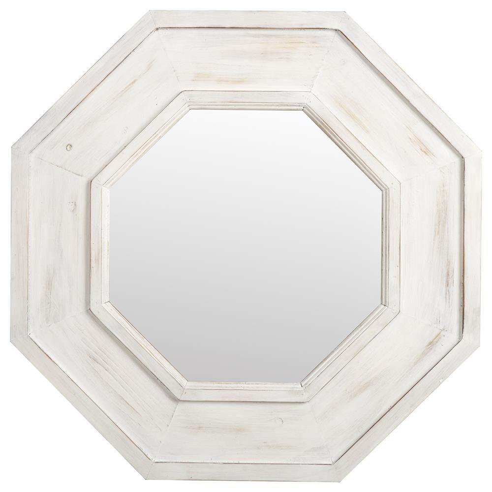 Miroir Octogonal Avec Cadre En Bois Blanchi Id Es Pour La Maison