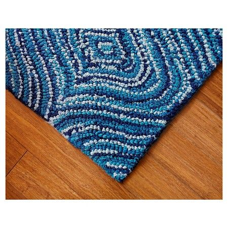 Anji Mountain Recycled Cotton Lantern Area Rug Blue : Target