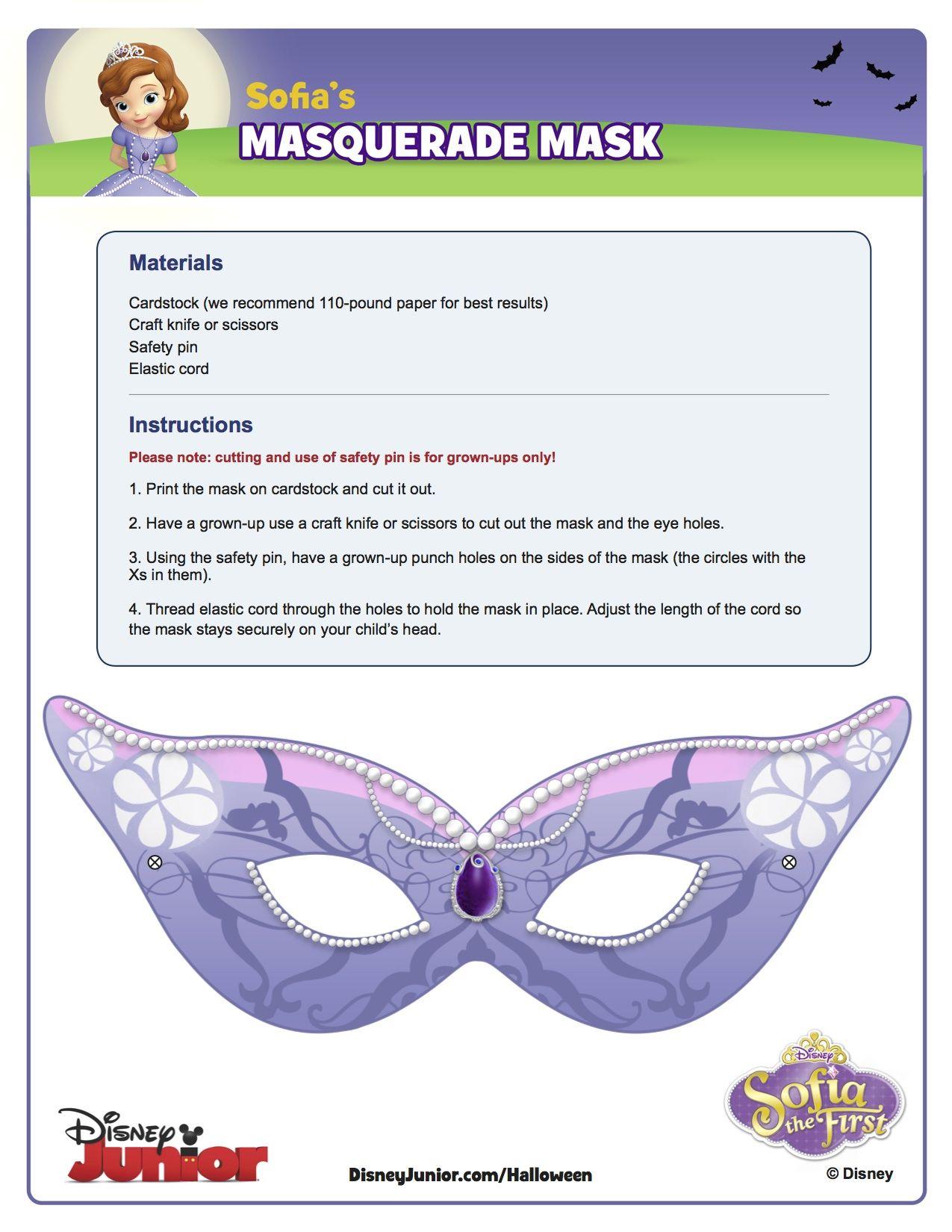 sofia's masquerade mask! | sofia the first party ideas | pinterest, Presentation templates