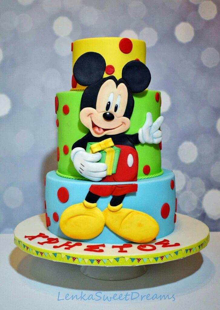 Mickey Birthday Cake Birthday Cakes Pinterest Mickey Birthday