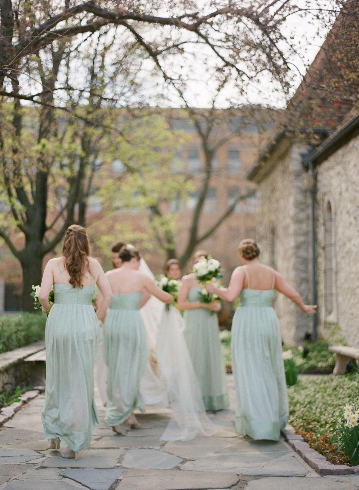 Elegant Milwaukee Wedding Lauren Ryan Floral Bridesmaid Dresses Bridal Party Attire Bridesmaid Colors