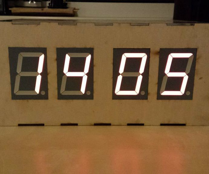 Arduino Real Time Clock With Large 7-segment Displays | And | Real