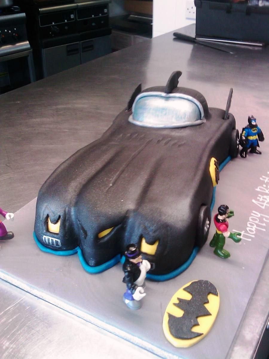 Image of Batman Car Birthday Cake Superhero Birthday Pinterest