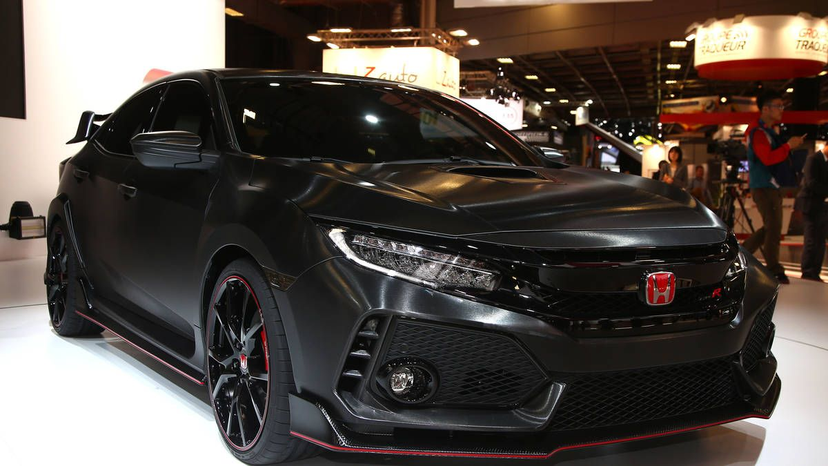 Honda shows super aggressive 2018 civic type r prototype at paris can