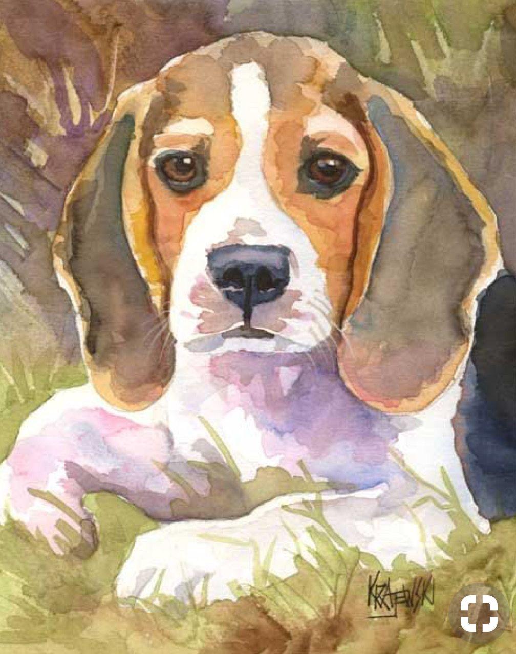 Картинки собак гуашью