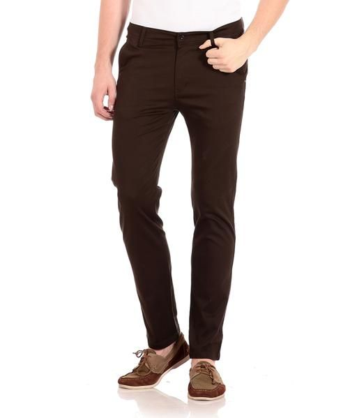 c3fc70c7e3 Check out the widest range of Men s Dark Brown Cotton Regular Fit  Stretchable Chinos   Casual