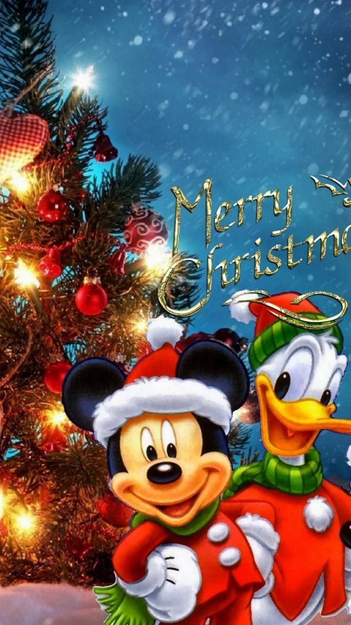 Babbo Natale Disney.Christmas Disney Mickey Mouse Donald Duck Disney Auguri