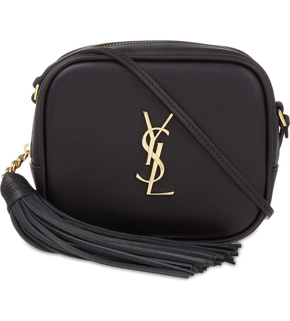 a43d36a924ab SAINT LAURENT Monogram Blogger leather shoulder bag