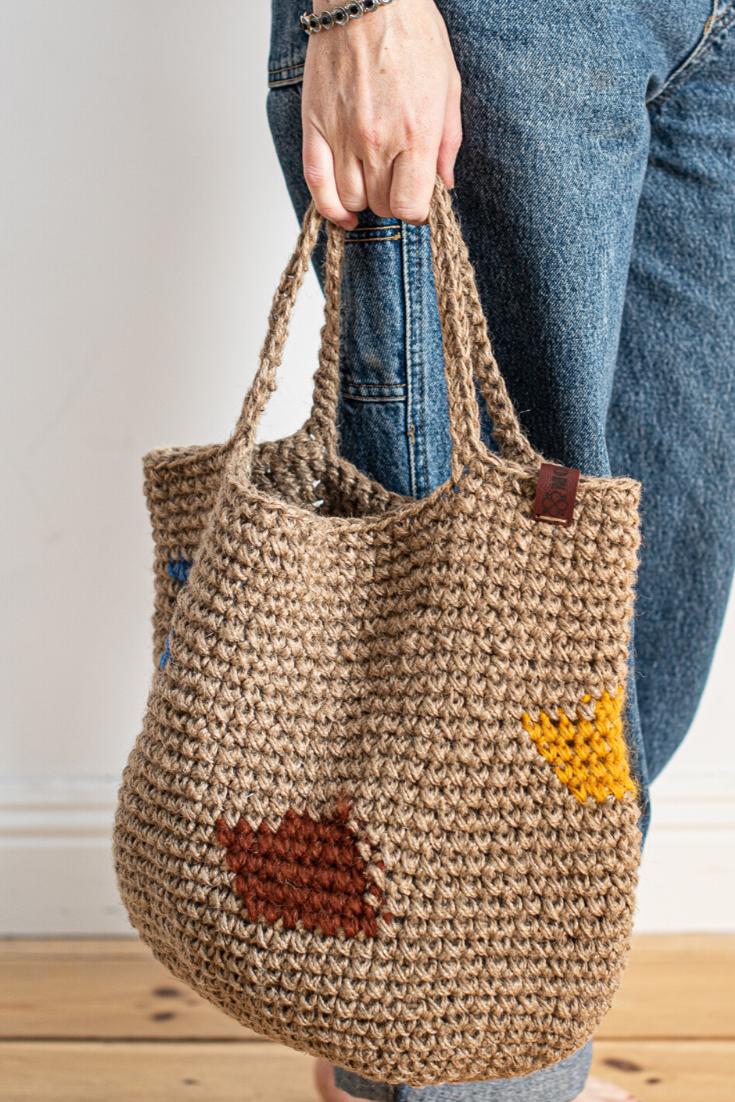 Knit Bag Gift for Her Shop Bag Casual Bag Women/'s Bag Hand-woven Bag Retro Knitted Shoulder Bag