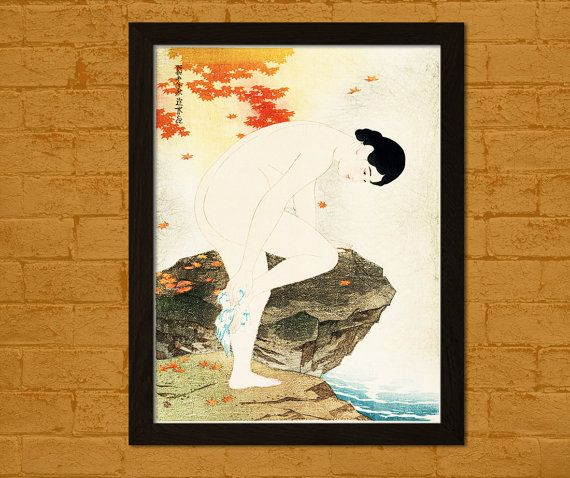 Japanese Art Print  The Fragrance of a Bath 1930 by VoyagesVoyages