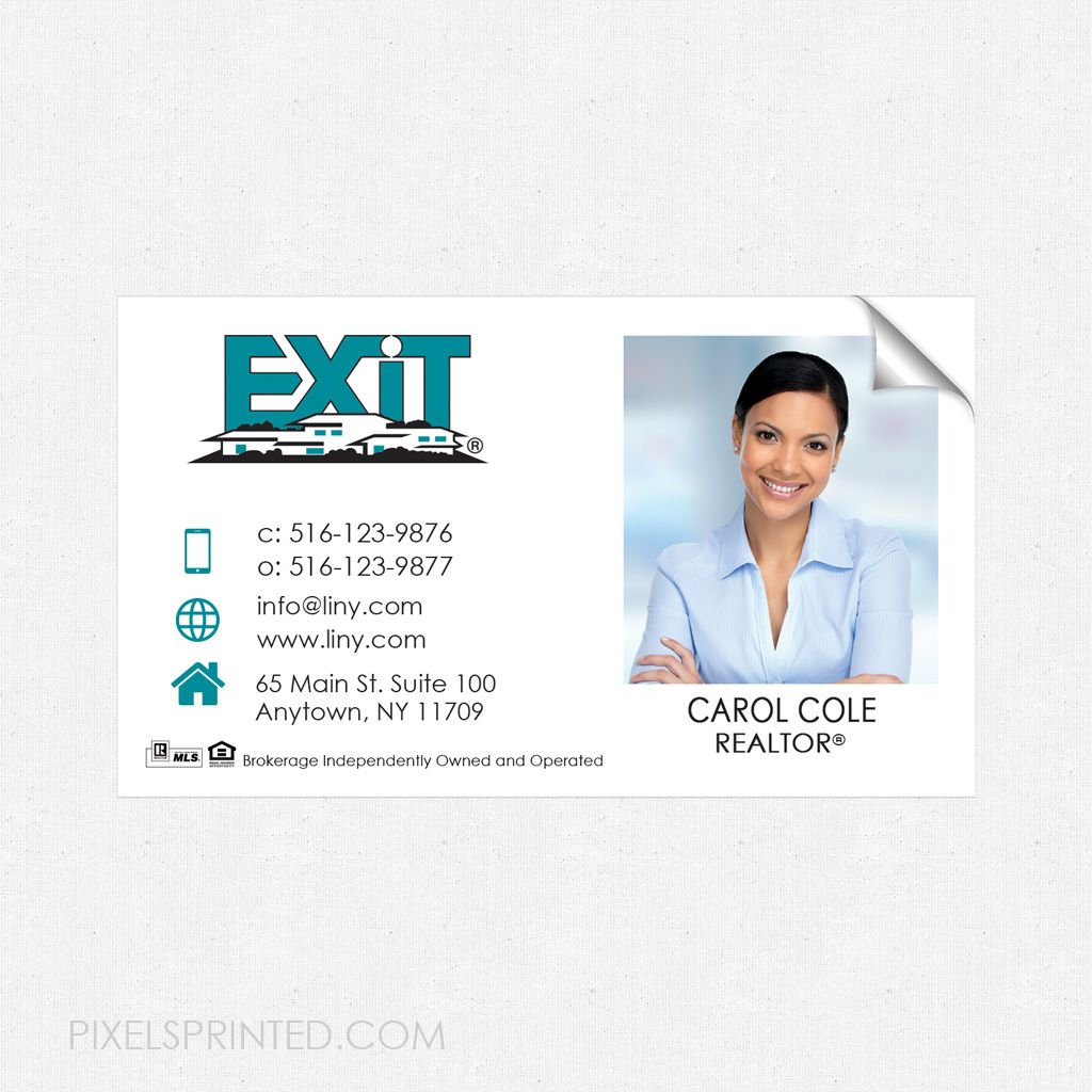 Exit business card sticker exit real estate business card sticker exit business card sticker exit real estate business card sticker business card sticker colourmoves Image collections